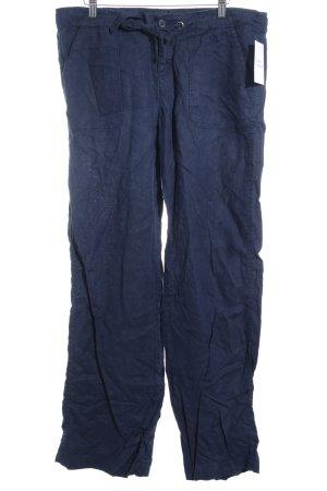 Tommy Hilfiger Pantalon en lin bleu foncé style marin