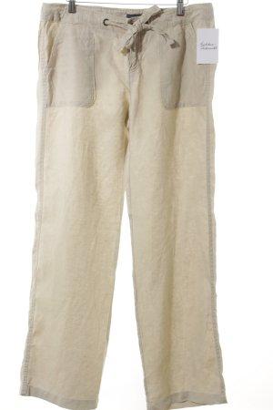 Tommy Hilfiger Pantalon en lin beige clair style safari