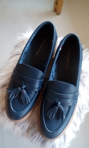 Tommy Hilfiger Loafers wit-donkerblauw Leer