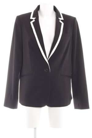 Tommy Hilfiger Long-Blazer schwarz-weiß Business-Look