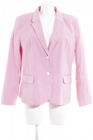 Tommy Hilfiger Long-Blazer weiß-hellrot Streifenmuster Business-Look
