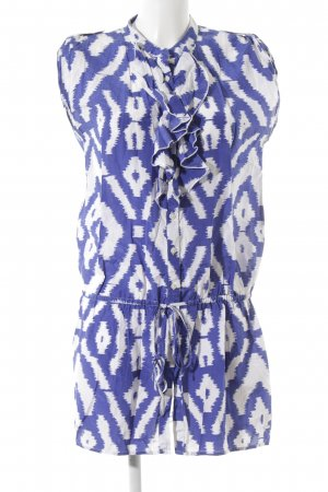 Tommy Hilfiger Lange blouse blauw-wit ikat patroon Beach-look