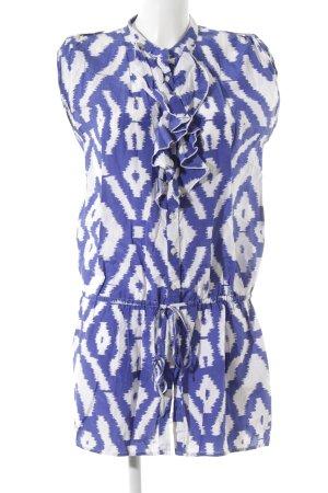 Tommy Hilfiger Long-Bluse blau-weiß Ikatmuster Beach-Look