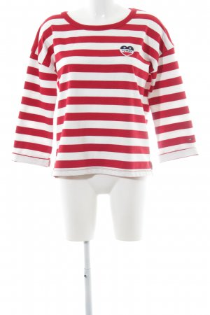 Tommy Hilfiger Jersey largo rojo oscuro-crema Herzmuster look casual