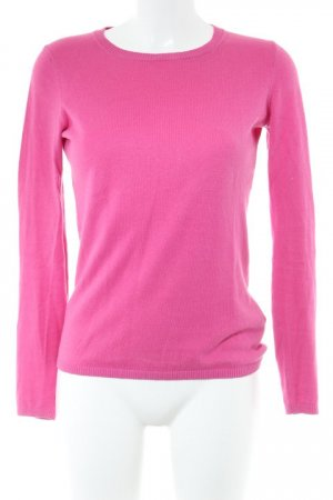 Tommy Hilfiger Longpullover rosa Webmuster klassischer Stil