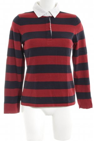 Tommy Hilfiger Longshirt rot-schwarz Streifenmuster Casual-Look