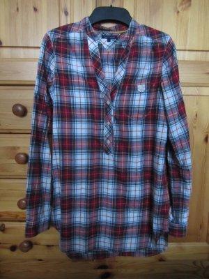 Tommy Hilfiger Longshirt Bluse Karohemd Gr. S TOP