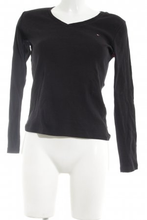 Tommy Hilfiger Longsleeve schwarz Motivdruck Business-Look