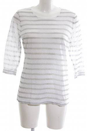 Tommy Hilfiger Longsleeve white-silver-colored striped pattern casual look