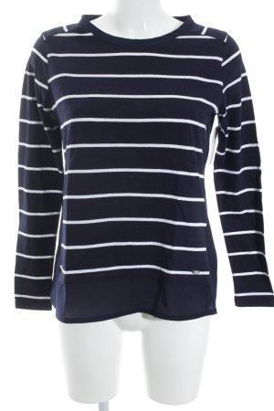 Tommy Hilfiger Manica lunga blu scuro-bianco motivo a righe stile casual