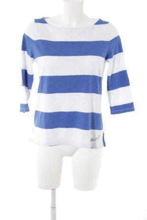 Tommy Hilfiger Longsleeve weiß-neonblau Streifenmuster Casual-Look