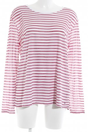 Tommy Hilfiger Longsleeve natural white-bright red striped pattern casual look
