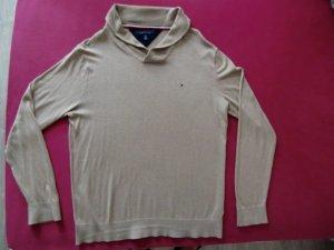 Tommy Hilfiger Kraagloze sweater beige