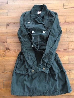 Tommy Hilfiger Trench Coat black cotton