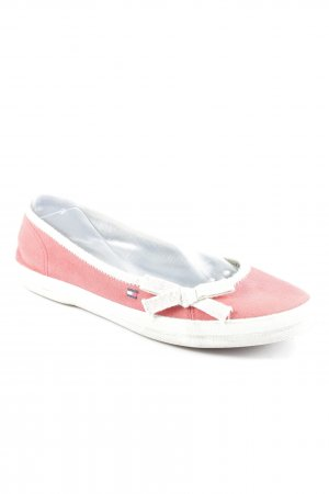 Tommy Hilfiger Mary Jane ballerina's lichtrood-wit casual uitstraling
