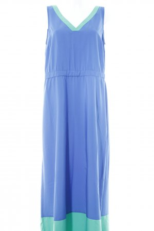 Tommy Hilfiger Maxi-jurk staalblauw-munt colour blocking Beach-look