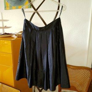 TOMMY HILFIGER Midi Rock Seide dunkelblau, seitl. Taschen Gr.6 / 36