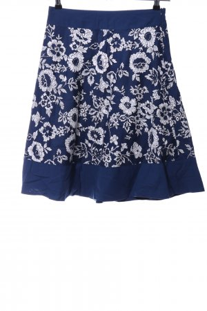 Tommy Hilfiger Midirock blau-weiß Blumenmuster Casual-Look