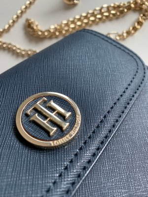 Tommy Hilfiger Crossbody bag dark blue-gold-colored