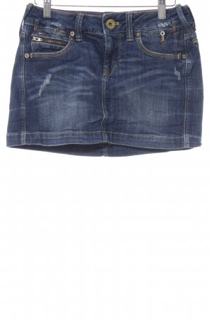 Tommy Hilfiger Minirock blau Washed-Optik