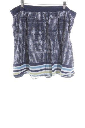Tommy Hilfiger Mini rok wit-donkerblauw geruite print simpele stijl