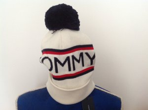 Tommy Hilfiger Bobble Hat multicolored cotton