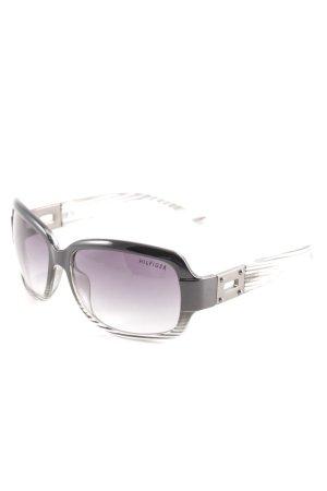 Tommy Hilfiger Lunettes de soleil ovales noir-gris clair style décontracté