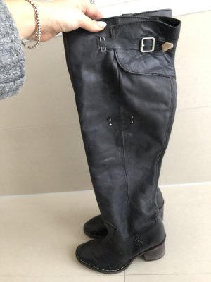 Tommy Hilfiger Overknees in dunkelblau - Größe 38