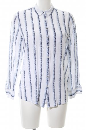 Tommy Hilfiger Oversized Blouse white-blue flower pattern business style
