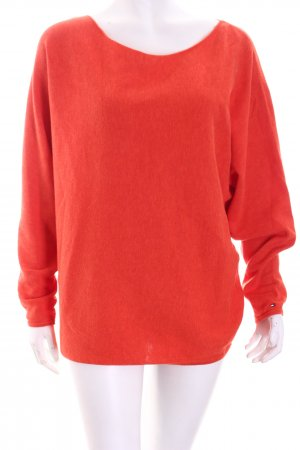 Tommy Hilfiger Oversized Pullover orange Casual-Look
