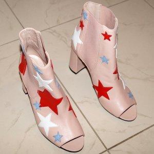 Tommy Hilfiger Peeptoe Ankle Boot Damen Schuhe Damenschuhe Leder Gr 39