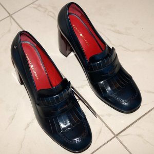 Tommy Hilfiger Penny Bar Pumps Damen Schuhe Damenschuhe Lack Leder Gr 40