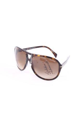 Tommy Hilfiger Pilot Brille dunkelbraun-braun Tortoisemuster Street-Fashion-Look