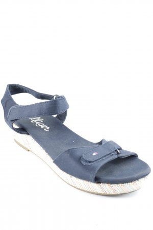 Tommy Hilfiger Platform High-Heeled Sandal steel blue beach look