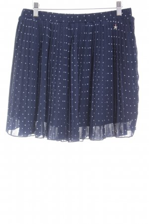 Tommy Hilfiger Pleated Skirt dark blue-white spot pattern casual look