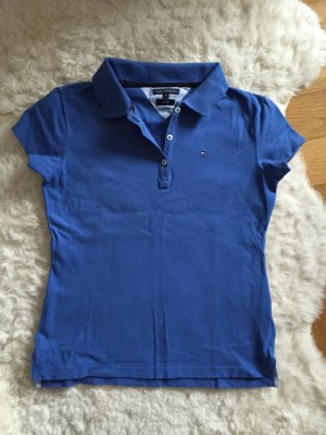 Tommy Hilfiger Polo blau M 36 38 Shirt tshirt Oberteil slim fit