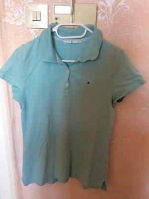 Tommy Hilfiger Polo Shirt azure cotton