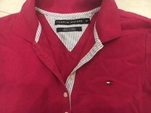 Tommy Hilfiger Polo Dress magenta cotton