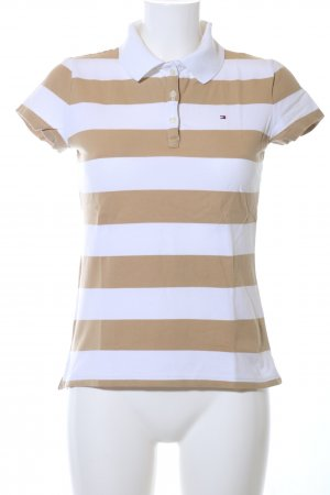Tommy Hilfiger Polo Shirt bronze-colored-white striped pattern casual look