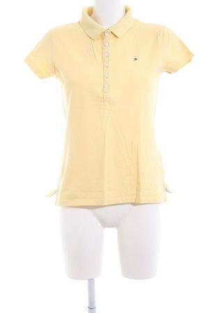 Tommy Hilfiger Polo-Shirt blassgelb Casual-Look