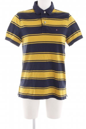 Tommy Hilfiger Polo Shirt blue-primrose striped pattern casual look