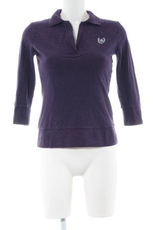 Tommy Hilfiger Polo-Shirt lila Schriftzug gestickt Casual-Look
