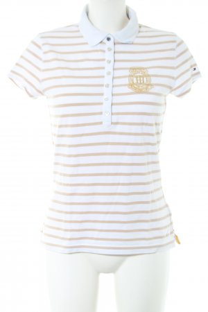 Tommy Hilfiger Polo Shirt white-nude striped pattern casual look