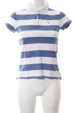 Tommy Hilfiger Polo Shirt blue-white allover print casual look