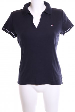 Tommy Hilfiger Polo Shirt blue-white athletic style