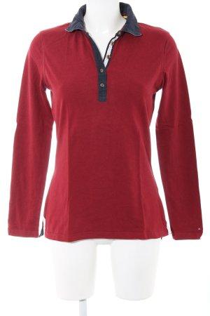 Tommy Hilfiger Polo-Shirt rot-blau Casual-Look