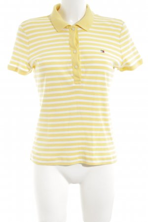 Tommy Hilfiger Polo-Shirt blassgelb-wollweiß Streifenmuster Casual-Look