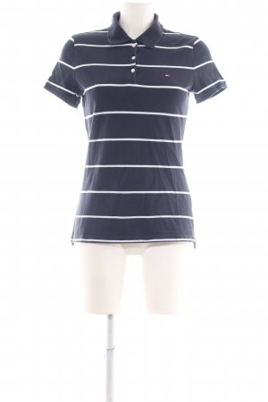 Tommy Hilfiger Polo Shirt blue-white striped pattern casual look