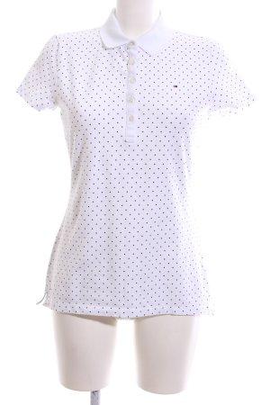 Tommy Hilfiger Polo-Shirt weiß-schwarz Allover-Druck Casual-Look