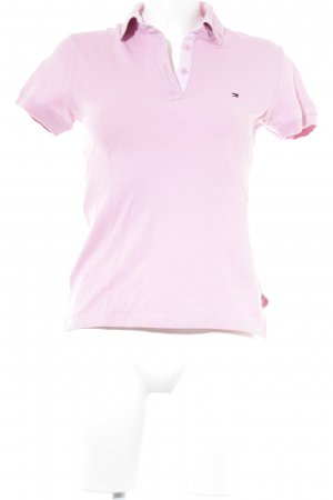 Tommy Hilfiger Polo vieux rose style athlétique